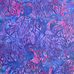 Robert Kaufman Artisan Batiks - Fancy Feathers - Violet Peacocks