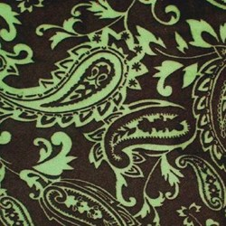 "Brown & Sage Paisley Cuddle Minky - 60"" wide"