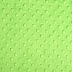 "Dark Lime Cuddle Dot Minky - 60"" wide"