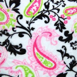 Hot Pink & Lime Paisley Cuddle Minky - 60