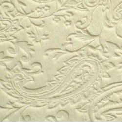 "Ivory Cuddle Paisley Minky - 60"" wide"