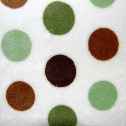 "Mocha & Olive Cuddle Jumbo Dot Minky - 60"" wide"
