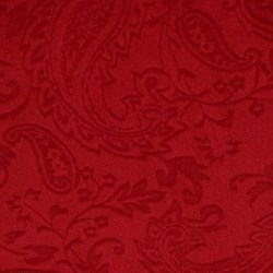 "Red Cuddle Paisley Minky - 60"" wide"