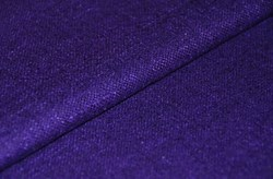 "11"" x 66""  Remnant -Purple/Eggplant Silk Matka Fabric"