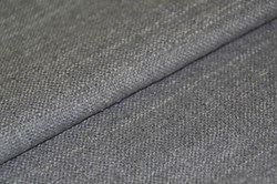 "8"" x 44"" -  Remnant -Gray Silk Matka Fabric"