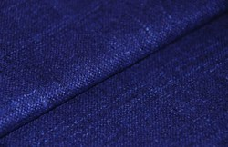 "24"" Remnant - Blue /Navy Silk Matka Fabric"