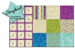 Songbird Pansy - Fat Quarter Bundle and Panel