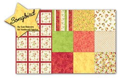 Songbird Raspberry - Fat Quarter Bundle and Panel