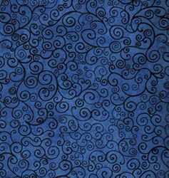 Spooky Eve Dark Blue Swirls by Clothworks