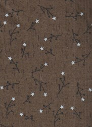 "18"" Remnant - Vintage Find!  Colonial Inn Olive Sprigs-  Cotton Fabric by Whimsicals -"