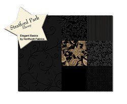 Stratford Park Ebony Fat Quarter Bundle