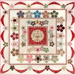 New!  Desert Rose English Paper Piecing & Applique Quilt Pattern
