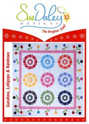 Sunshine, Lollipops & Rainbows Applique and English Paper Piecing Pattern