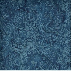 Tonga - Sapphire Feather Paisley - by Timeless Treasures