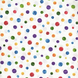 The Very Hungry Caterpillar - Multi Dots  - By Eric Carle for Andover Fabrics