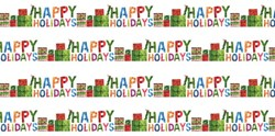 "34"" Remnant- The Very Hungry Caterpillar Christmas - Happy Holidays - By Eric Carle for Andover Fabrics"