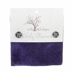 "Wooly Charm Pack - 5"" x 5"" -<br> 5 Textures Per Pack  -- Violet"