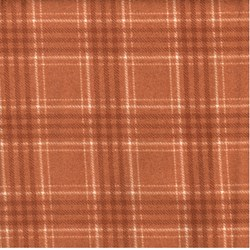"12"" Remnant - Woolies Flannel - Rust Plaid"