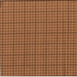 "17"" Remnant - Woolies Flannel - Brown Plaid Check"