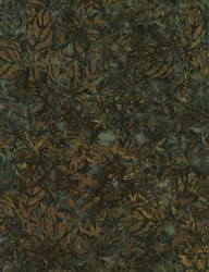 Tonga Batiks -Mineral Matrix- Evergreen Island Flora- by Timeless Treasures