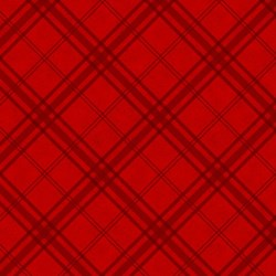 "End of Bolt - 41"" - - Frosty Friends 2-Ply Flannel Red Diagonal Plaid by Henry Glass Fabrics"