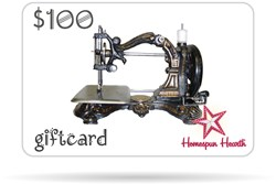 Gift Card - Antique Sewing Machine (Generic)<br>$10, $25, $50, $75, or $100