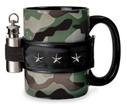 The Camo Coffee Mug and Mini Flask