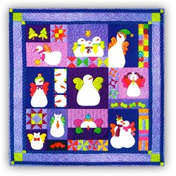 Angelz in the Snow Wallhanging BOM or All at Once Starts April 2017!