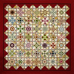 Last One!  Afternoon Delight<br> Block of the Month<br> or All at Once Quilt Kit   <br>Start Anytime!