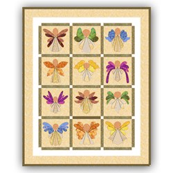 Angels!  Wool on Silk Quilt Kit - ONLY 1 KIT REMAINING