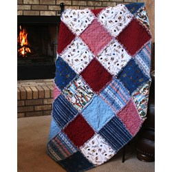 Après Ski Alpine Snuggler (Rag-Style) Kit - A Homespun Hearth Exclusive!Includes Backing!