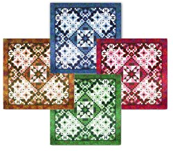 Asteria Batik King Size Quilt - 4 Color Options! Start Anytime!