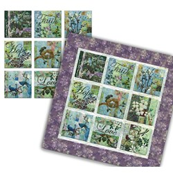 "Batik ""Faith Love Hope"" Quilt Kit or Canvas Blocks"