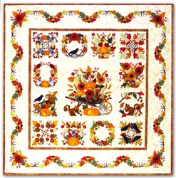 Baltimore Autumn LASER Cut Block of the Month or All at Once<br>Start Anytime