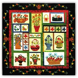 Batik Baskets in Bloom Block of the Month or All at Once<br>Start Anytime!