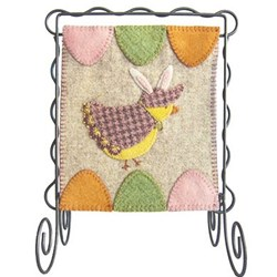 Bitty Banner Wool Applique - April Kit