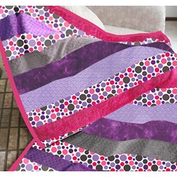 It's Back!  The Exclusive Bubbles & Cuddles Minky Cuddle Snuggler Quilt Kit Includes Backing!