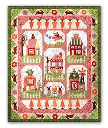 Bunny Town Complete Pattern Set with Accessory Fabric Pack & Buttons<br>By The Quilt Company