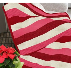 The Candy Cane Twist Snuggler Quilt KitIncludes Backing!