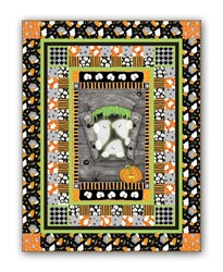 New!  Chills & Thrills Spooky Fun Glow-In-The-Dark  Quilt Kit - A Quick & Easy Design!