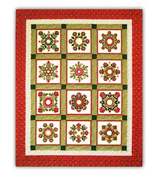Christmas Windows 100% Hand Dyed WOOL on Matka SILK Blocks of the Month or All at Once Kit <br>Join Anytime