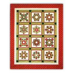 Christmas Windows 100% Cotton Blocks of the Month or All at Once Kit Join Anytime