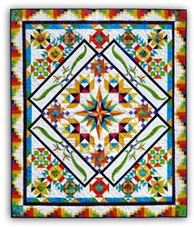 Colorful Tropics Batik <br>Block of the Month - Start Anytime!