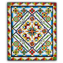 Colorful Tropics Batik Block of the Month - Starts October!