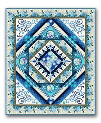 Queen Sized Dreamscapes Quilt Kit -Blues