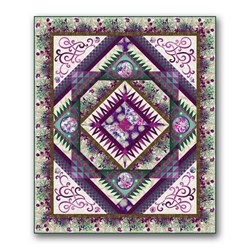 Queen Size Dreamscapes Quilt Kit -Purples
