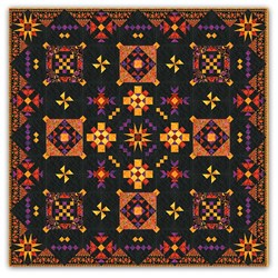 Black Elegance King Sized Block of the Month or All at Once Quilt