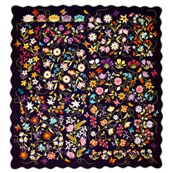 Euphoria Quilt Kit<br>Wool Applique on Silk Background<br>Bonus Pillow, too!<br>Start Anytime!