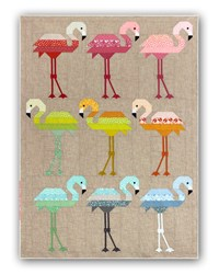 Florence Flamingo Quilt Kit with Coordinating Backing