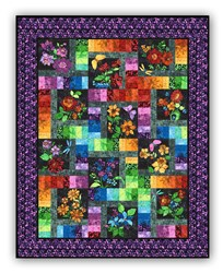 New!  Floragraphix Batik with Purple Leaf Border Block of the Month  or All at Once - Starts January 2019!